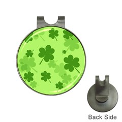 Leaf Clover Green Line Hat Clips With Golf Markers by Alisyart