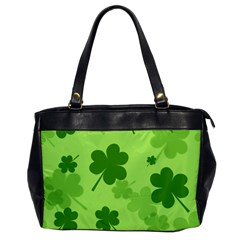 Leaf Clover Green Line Office Handbags by Alisyart
