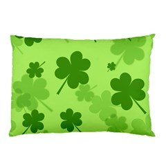 Leaf Clover Green Line Pillow Case (two Sides) by Alisyart