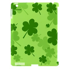 Leaf Clover Green Line Apple Ipad 3/4 Hardshell Case (compatible With Smart Cover) by Alisyart