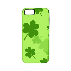 Leaf Clover Green Line Apple Iphone 5 Classic Hardshell Case (pc+silicone) by Alisyart