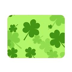 Leaf Clover Green Line Double Sided Flano Blanket (mini)  by Alisyart