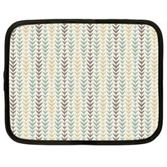 Leaf Triangle Grey Blue Gold Line Frame Netbook Case (large) by Alisyart