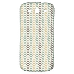 Leaf Triangle Grey Blue Gold Line Frame Samsung Galaxy S3 S Iii Classic Hardshell Back Case by Alisyart
