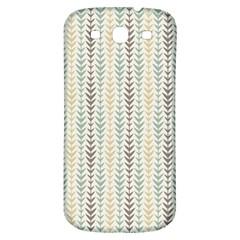 Leaf Triangle Grey Blue Gold Line Frame Samsung Galaxy S3 S Iii Classic Hardshell Back Case