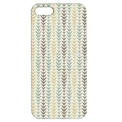 Leaf Triangle Grey Blue Gold Line Frame Apple Iphone 5 Hardshell Case With Stand by Alisyart