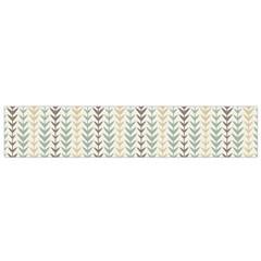 Leaf Triangle Grey Blue Gold Line Frame Flano Scarf (small) by Alisyart