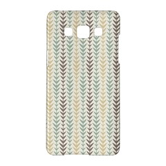 Leaf Triangle Grey Blue Gold Line Frame Samsung Galaxy A5 Hardshell Case  by Alisyart