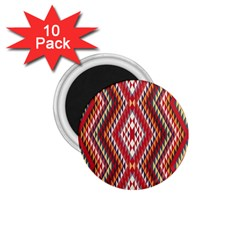 Indian Pattern Sweet Triangle Red Orange Purple Rainbow 1 75  Magnets (10 Pack)  by Alisyart