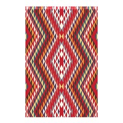 Indian Pattern Sweet Triangle Red Orange Purple Rainbow Shower Curtain 48  X 72  (small)  by Alisyart