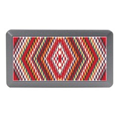 Indian Pattern Sweet Triangle Red Orange Purple Rainbow Memory Card Reader (mini) by Alisyart
