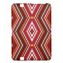 Indian Pattern Sweet Triangle Red Orange Purple Rainbow Kindle Fire Hd 8 9  by Alisyart