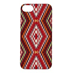 Indian Pattern Sweet Triangle Red Orange Purple Rainbow Apple Iphone 5s/ Se Hardshell Case by Alisyart