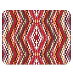 Indian Pattern Sweet Triangle Red Orange Purple Rainbow Double Sided Flano Blanket (medium)  by Alisyart