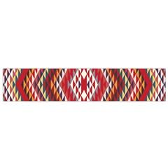 Indian Pattern Sweet Triangle Red Orange Purple Rainbow Flano Scarf (small) by Alisyart