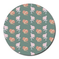Lifestyle Repeat Girl Woman Female Round Mousepads by Alisyart