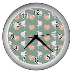 Lifestyle Repeat Girl Woman Female Wall Clocks (silver)  by Alisyart