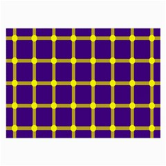 Optical Illusions Circle Line Yellow Blue Large Glasses Cloth (2 Side) by Alisyart