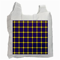 Optical Illusions Circle Line Yellow Blue Recycle Bag (one Side) by Alisyart