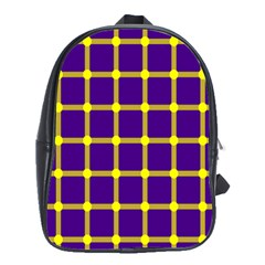 Optical Illusions Circle Line Yellow Blue School Bags(large)  by Alisyart