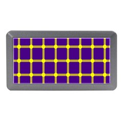 Optical Illusions Circle Line Yellow Blue Memory Card Reader (mini) by Alisyart