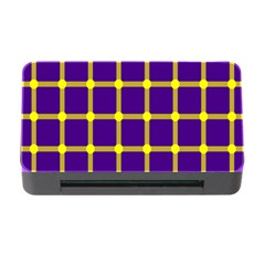 Optical Illusions Circle Line Yellow Blue Memory Card Reader With Cf by Alisyart