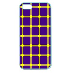 Optical Illusions Circle Line Yellow Blue Apple Seamless Iphone 5 Case (color) by Alisyart