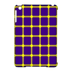 Optical Illusions Circle Line Yellow Blue Apple Ipad Mini Hardshell Case (compatible With Smart Cover) by Alisyart