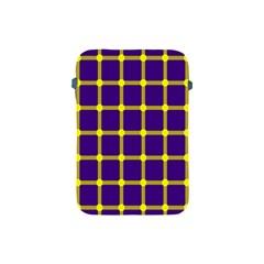Optical Illusions Circle Line Yellow Blue Apple Ipad Mini Protective Soft Cases by Alisyart