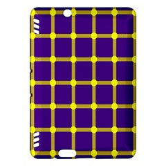 Optical Illusions Circle Line Yellow Blue Kindle Fire Hdx Hardshell Case by Alisyart