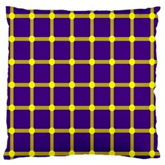 Optical Illusions Circle Line Yellow Blue Standard Flano Cushion Case (two Sides) by Alisyart