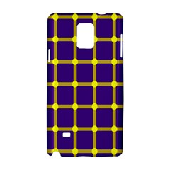 Optical Illusions Circle Line Yellow Blue Samsung Galaxy Note 4 Hardshell Case by Alisyart