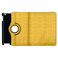 Plaid Line Orange Yellow Apple Ipad 3/4 Flip 360 Case by Alisyart