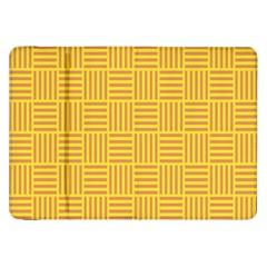 Plaid Line Orange Yellow Samsung Galaxy Tab 8 9  P7300 Flip Case by Alisyart