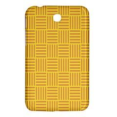 Plaid Line Orange Yellow Samsung Galaxy Tab 3 (7 ) P3200 Hardshell Case  by Alisyart