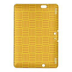 Plaid Line Orange Yellow Kindle Fire Hdx 8 9  Hardshell Case by Alisyart