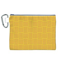 Plaid Line Orange Yellow Canvas Cosmetic Bag (xl) by Alisyart