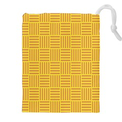 Plaid Line Orange Yellow Drawstring Pouches (xxl) by Alisyart