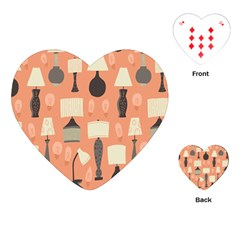 Lamps Playing Cards (heart)  by Alisyart
