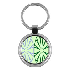 Starburst Shapes Large Green Purple Key Chains (round)  by Alisyart