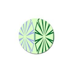 Starburst Shapes Large Green Purple Golf Ball Marker (4 Pack) by Alisyart
