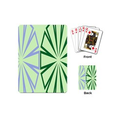 Starburst Shapes Large Green Purple Playing Cards (mini)  by Alisyart