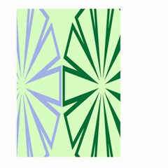 Starburst Shapes Large Green Purple Large Garden Flag (two Sides) by Alisyart