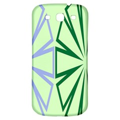 Starburst Shapes Large Green Purple Samsung Galaxy S3 S Iii Classic Hardshell Back Case by Alisyart