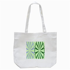 Starburst Shapes Large Green Purple Tote Bag (white) by Alisyart
