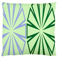 Starburst Shapes Large Green Purple Standard Flano Cushion Case (one Side) by Alisyart
