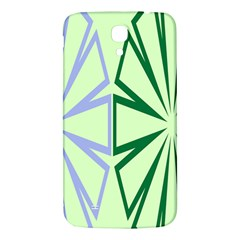 Starburst Shapes Large Green Purple Samsung Galaxy Mega I9200 Hardshell Back Case by Alisyart