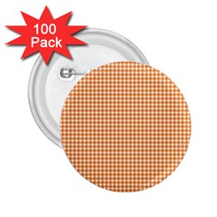 Orange Tablecloth Plaid Line 2 25  Buttons (100 Pack)  by Alisyart