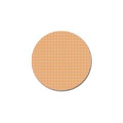 Orange Tablecloth Plaid Line Golf Ball Marker by Alisyart