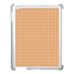 Orange Tablecloth Plaid Line Apple Ipad 3/4 Case (white) by Alisyart